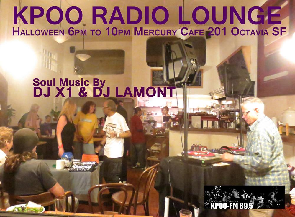 KPOO Radio Lounge on Halloween